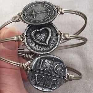 Luca & Stella stack bracelets LOVE Anchor heart